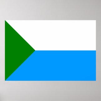 Khabarovsk Krai, Russia flag Posters