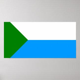 Khabarovsk Krai, Russia flag Print