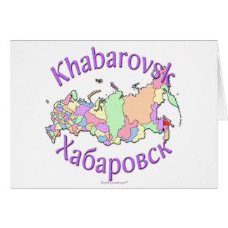 Khabarovsk Russia Map Card