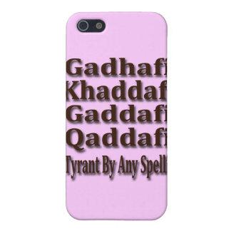 Khaddafi Qaddafi Ghadafi iPhone 5 Carcasas