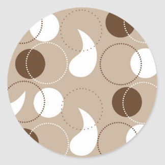 Khaki and Brown Paisley Stickers