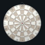 "Khaki And White Dartboard With Darts<br><div class=""desc"">Khaki And White Dart Board</div>"