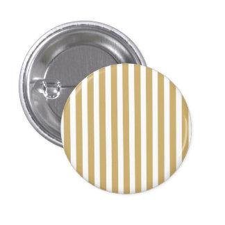 Khaki Beige and White Cabana Stripes 1 Inch Round Button