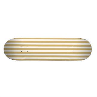 Khaki Beige and White Cabana Stripes Skateboards
