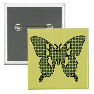 Khaki Butterfly Button
