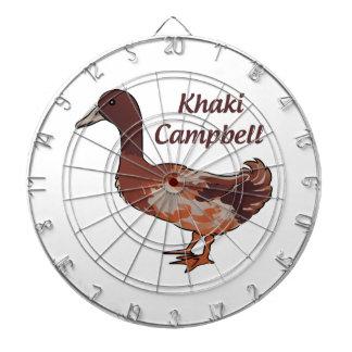Khaki Campbell Duck Dartboard With Darts