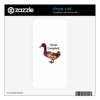 Khaki Campbell Duck iPhone 4 Skins