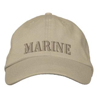 Khaki cap Embroidered with MARINE