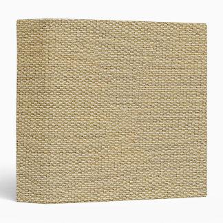 Khaki Coffee Brown Faux Burlap Texture Pattern Binder