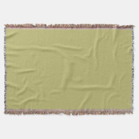 Khaki-Colored Throw Blanket