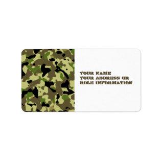 Khaki Commando Game Adhesive Labels at Zazzle