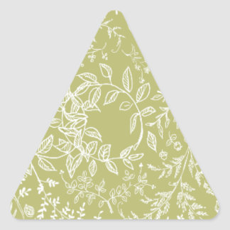Khaki floral blossom pattern stickers