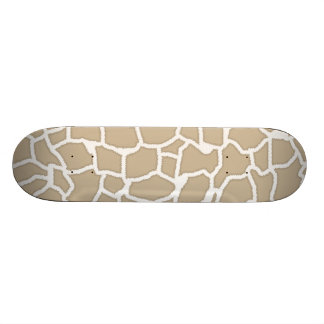 Khaki Giraffe Animal Print Skate Board Deck