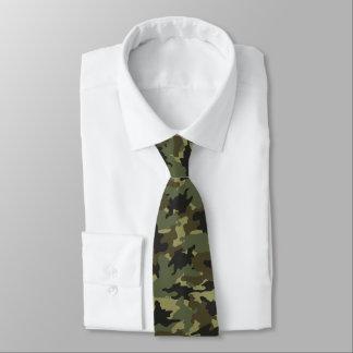 Khaki Green Camo Military Camouflage Mens Neck Tie