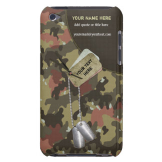 Khaki Green Camo Military for iPod Touch Barely There iPod Case