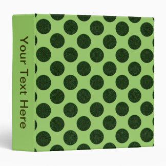 khaki green circles 3 ring binder