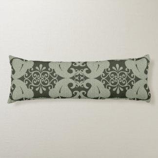 Khaki Green Modern  Elegant Leaf Pattern Body Pillow