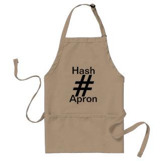 Khaki Hashtag Apron Cooking Hash Barbecue Kitchen Standard Apron