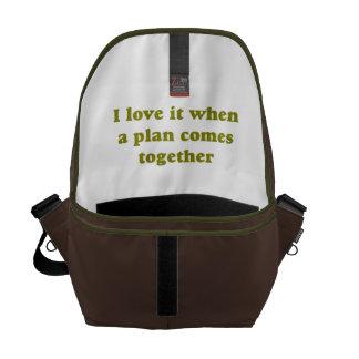 Khaki I Love It Courier Bag