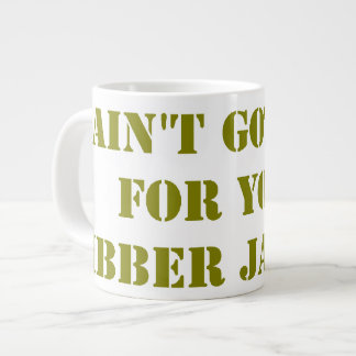 Khaki Jibber Jabber Large Coffee Mug