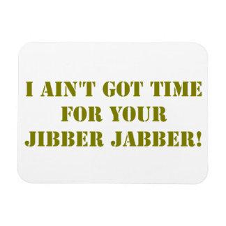 Khaki Jibber Jabber Rectangular Photo Magnet
