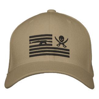 Khaki Liberty Pirate Operator Cap Embroidered Baseball Cap