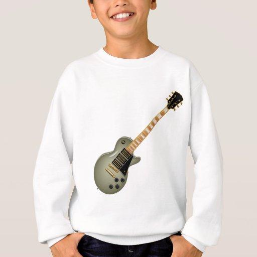 Khaki Metal Electric Guitar Sweatshirt