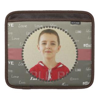 Khaki & Olive Circle Photo Frame  iPad Sleeve