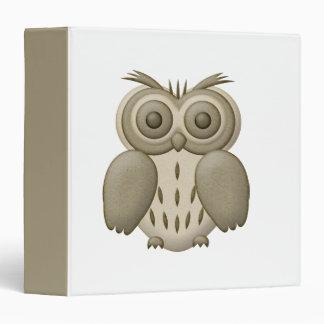 Khaki Owl Binder