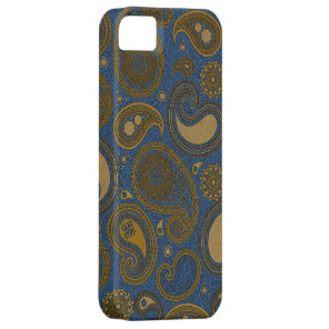 Khaki Paisley on Blue Jean motif iPhone SE/5/5s Case
