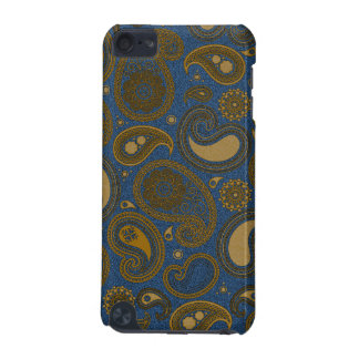 Khaki Paisley on Blue Jean motif iPod Touch (5th Generation) Cover