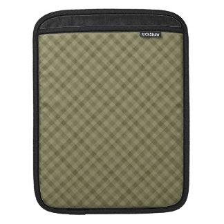 Khaki Plaid -  Custom iPad Vertical Case Sleeve For iPads