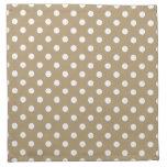 Khaki Polka Dot Pattern Cloth Napkin