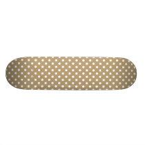 Khaki Polka Dot Pattern Skateboard Deck