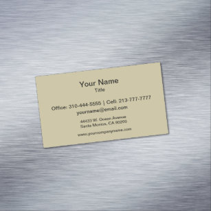 Khaki color business cards zazzle khaki solid color business card magnet reheart Image collections