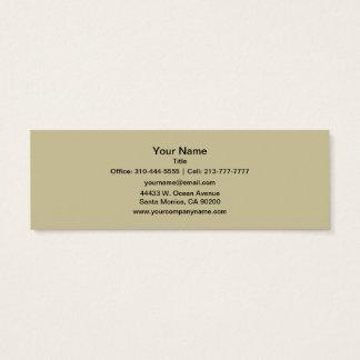 Khaki Solid Color Mini Business Card