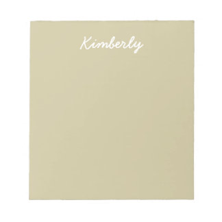 Khaki Solid Color Notepad