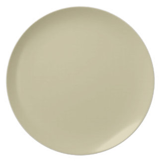 Khaki Solid Color Plate