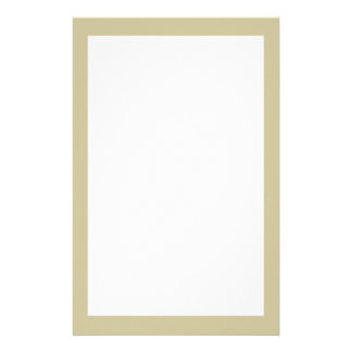 Khaki Solid Color Stationery