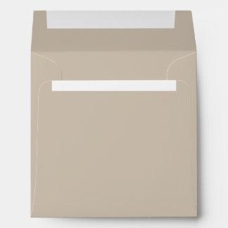 Khaki Square Envelopes
