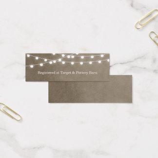 Khaki String Lights Wedding Insert Card