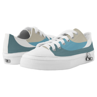 Khaki/Teal Casuals - Low Top Sneakers Printed Shoes