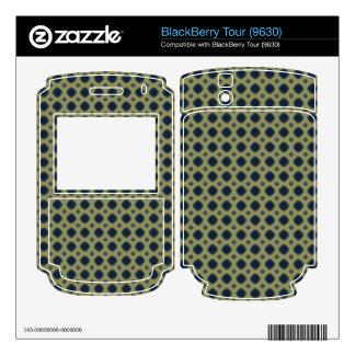 khaki teal retro pattern skins for BlackBerry