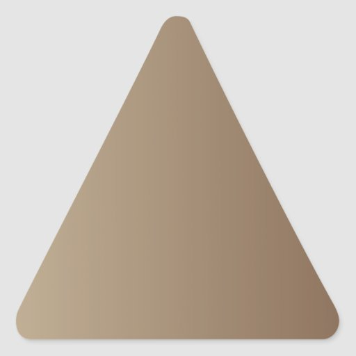Khaki to Coffee Vertical Gradient Triangle Sticker