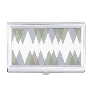 Khaki triangles business card case