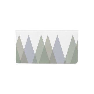Khaki triangles checkbook cover