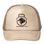 Khaki trucker hat - logo/name