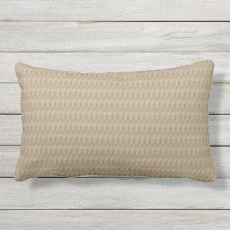 Khaki Weave Print Outdoor Lumbar Pillow