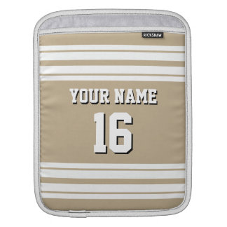 Khaki White Team Jersey Custom Number Name Sleeve For iPads