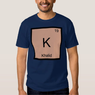 Khalid  Name Chemistry Element Periodic Table Tee Shirt